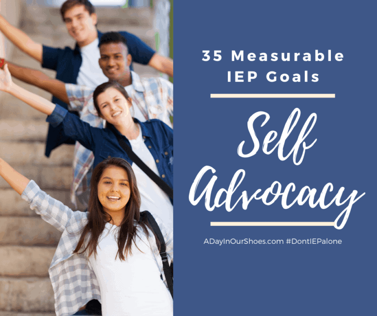 Self Advocacy and Self Determination | 35 Measurable  IEP Goals | Examples