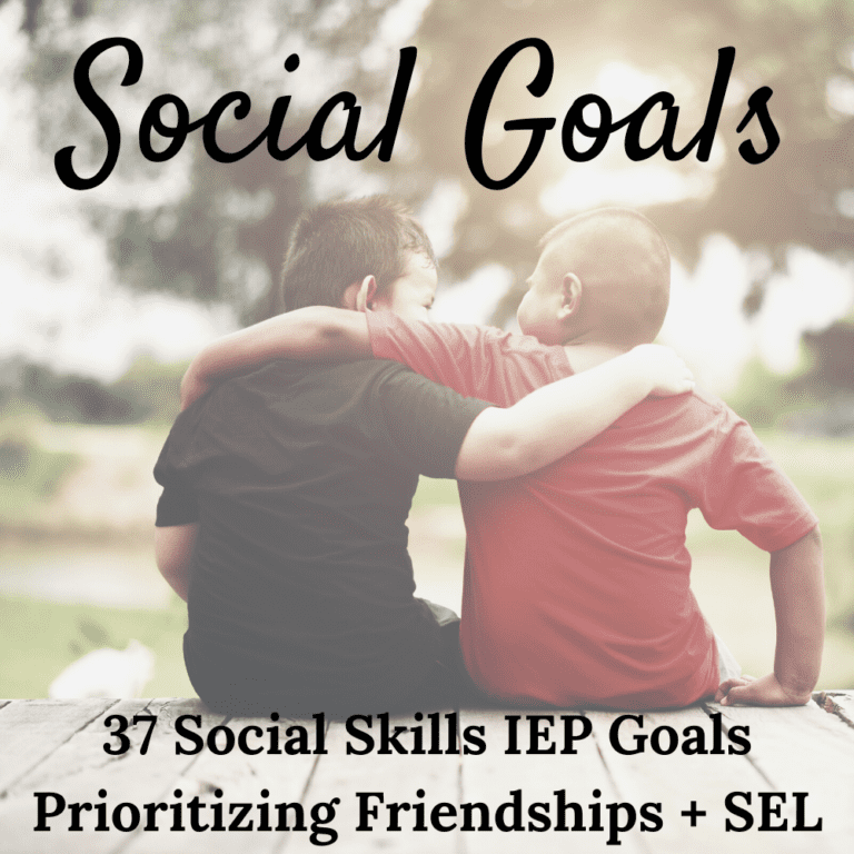 37 Measurable Social Skills IEP Goals | Social Emotional IEP Goals | PDF