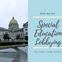 {Special Education Lobbying}  Testimony from Senate Education Committee