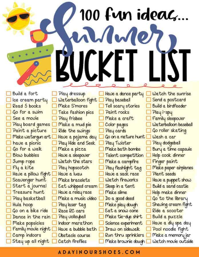 Have the Best Summer Ever with This Fun Bucket List for Kids  | 2021