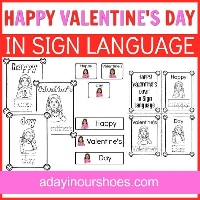 Valentine's Day in Sign Language | Free Printable ASL Valentines