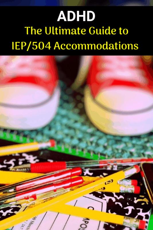 adhd accommodation iep 504