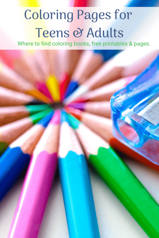 adult coloring books pages