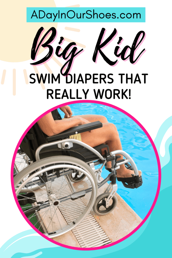 person using a wheelchair ready to go swimming