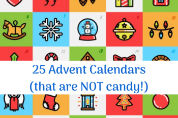 advent calendar days that aren't candy countdown to christmas 1 to 25
