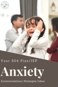 a little girl upset at school who needs a 504 plan for anxiety