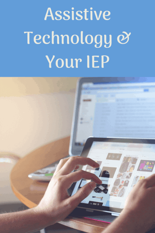 assistive technology IEP someone use a tablet device while searching