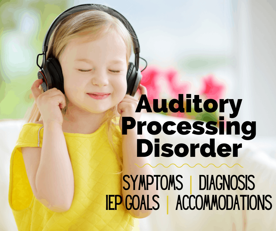 child with auditory processing disorder using headphones to manage her apd