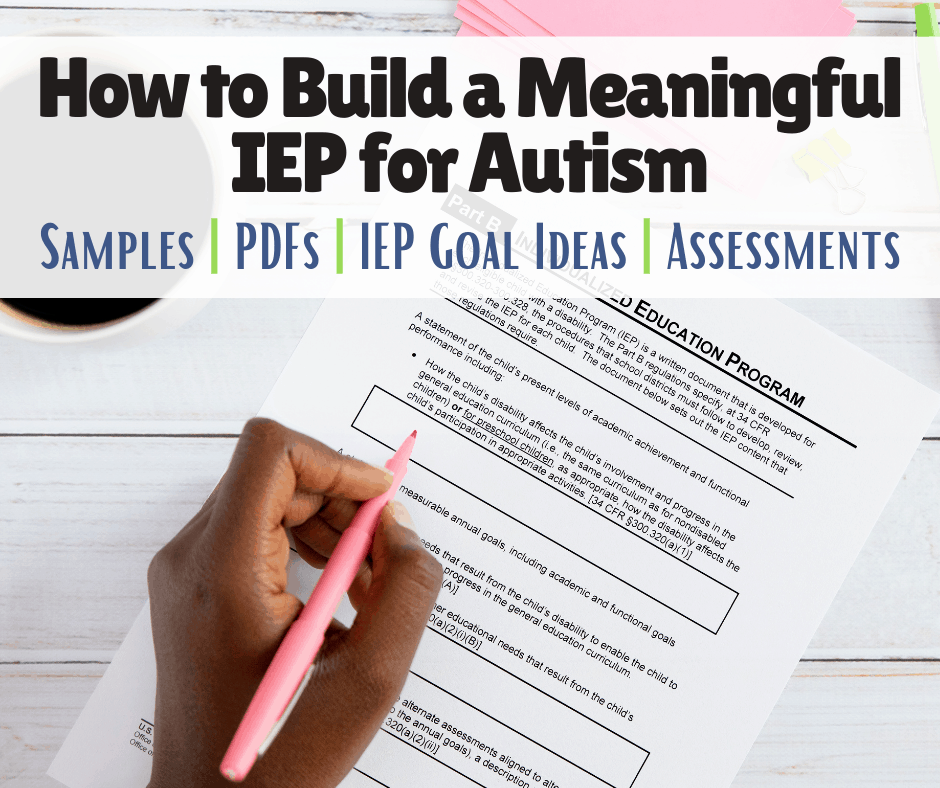 a mom reviews her son's IEP for autism