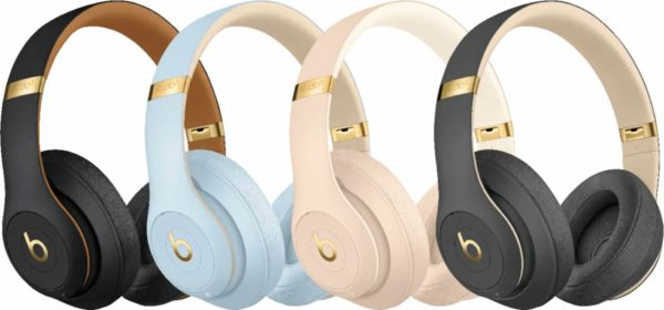 row of beats by dre sound canceling headphones