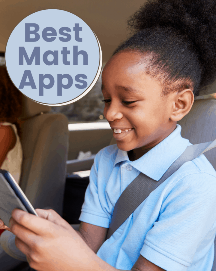 female student riding in car while on a device using an app
