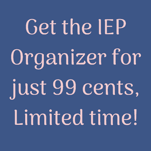 best way to organize IEP paperwork