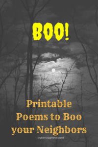 boo your neighbors printable poem spooky night sky and trees with the moon