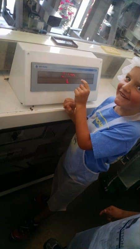 a child at the make your own chocolate bar