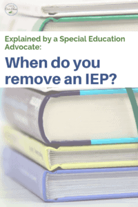 can you remove an iep