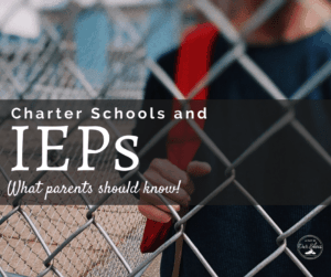 charter schools IEPs child with backpack on standing by a fence
