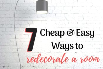cheap ways to redecorate a room brick wall and silver floor lamp
