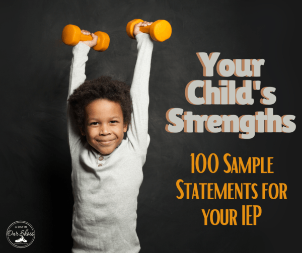 Your Child's Strengths | 100 Example Statements to Swipe for your IEP