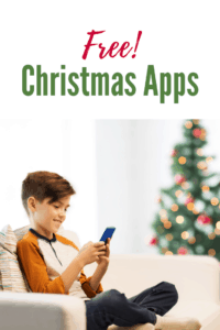 educational christmas apps for kids little boy sitting on couch with phone playing a game smiling