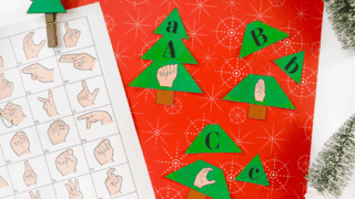 {Christmas Tree Worksheet} Build a tree matching letters to ASL.