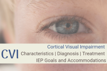Cortical Visual Impairment | CVI | Characteristics | Treatment | IEP Goals and Accommodations