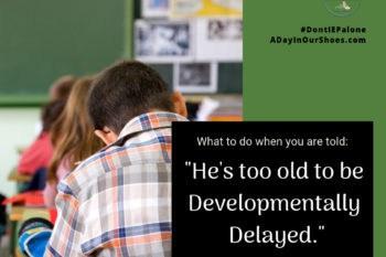 developmentally delayed