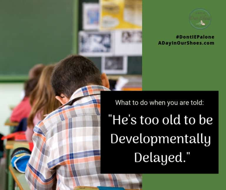 """They said my child is too old to be considered for """"developmental delay."""""""