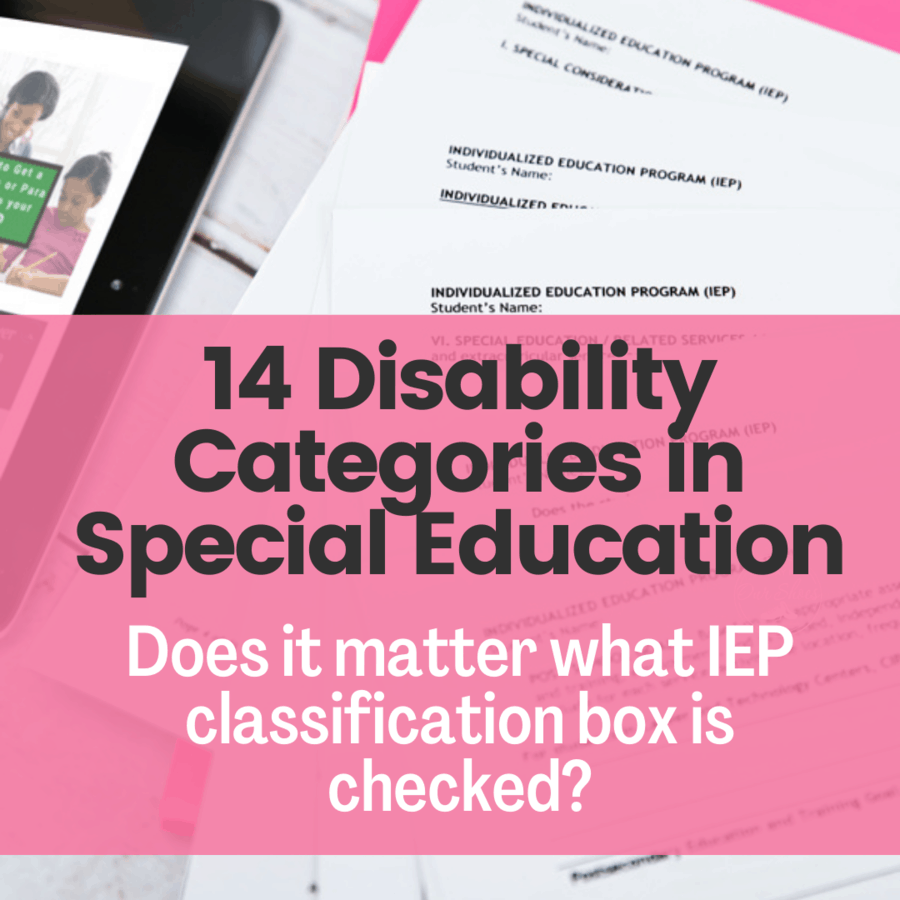 disability categories classifications