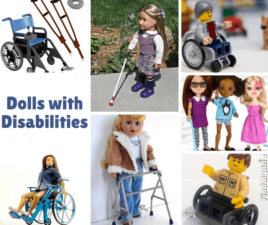 an assortment of disabled dolls