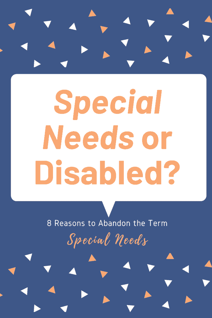 disabled instead of special needs