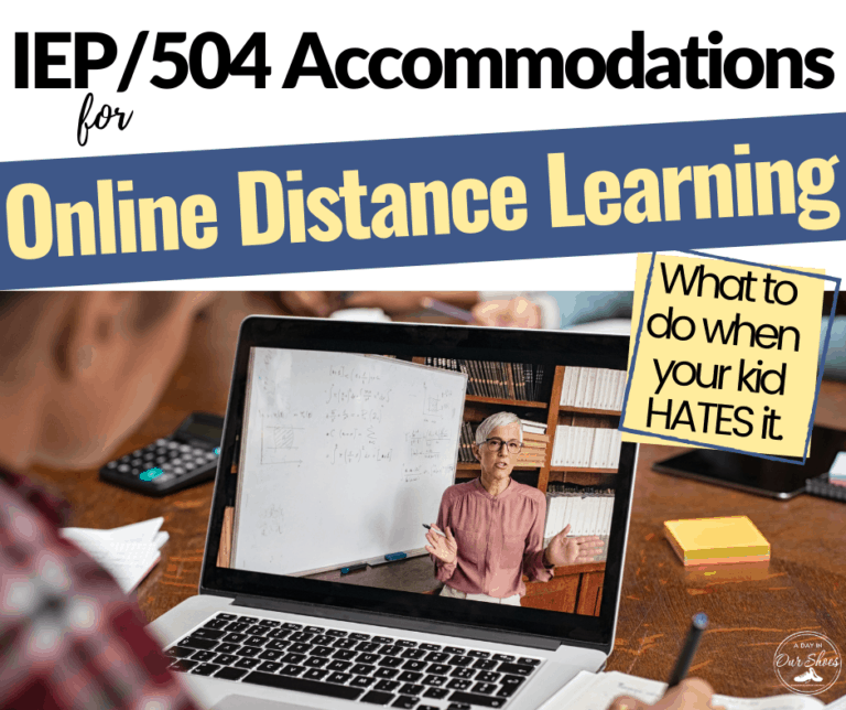 IEP and 504 Accommodations for Online/Virtual Learning.