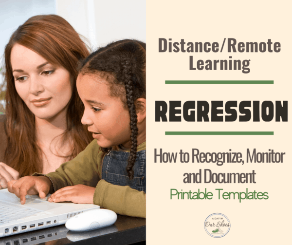 IEP Regression and Progress Monitoring During Distance Learning   Templates