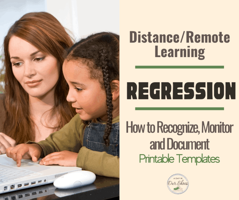 IEP Regression and Progress Monitoring During Distance Learning | Templates