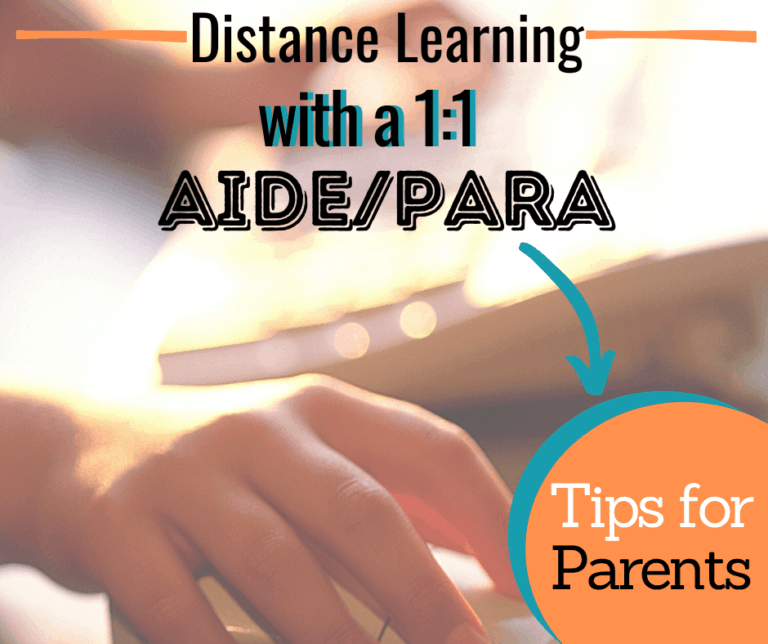 Distance Learning with a 1:1 Aide or Para | Tips for Success