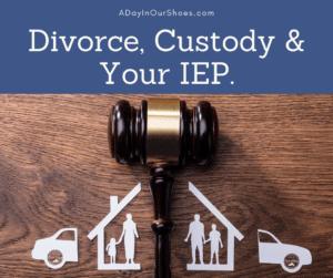 divorce custody and IEP