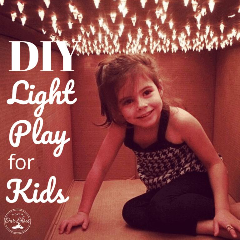DIY Kids LightBox | Cheap Light + Sensory Play Ideas