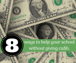 donations for schools ways to help your school dollar bills spread out