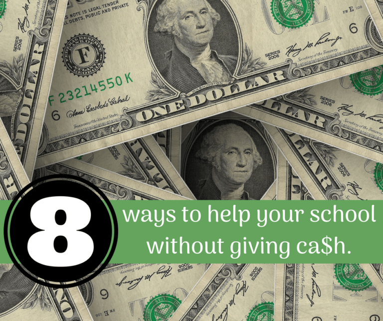 8 ways to give donations to schools, without giving cash.