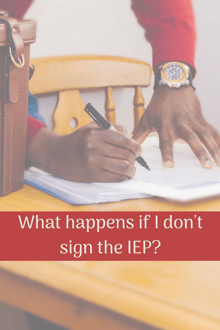 Many parents don't understand the relevance (or lack thereof) of signing or not signing an IEP. Is it an effective tool?