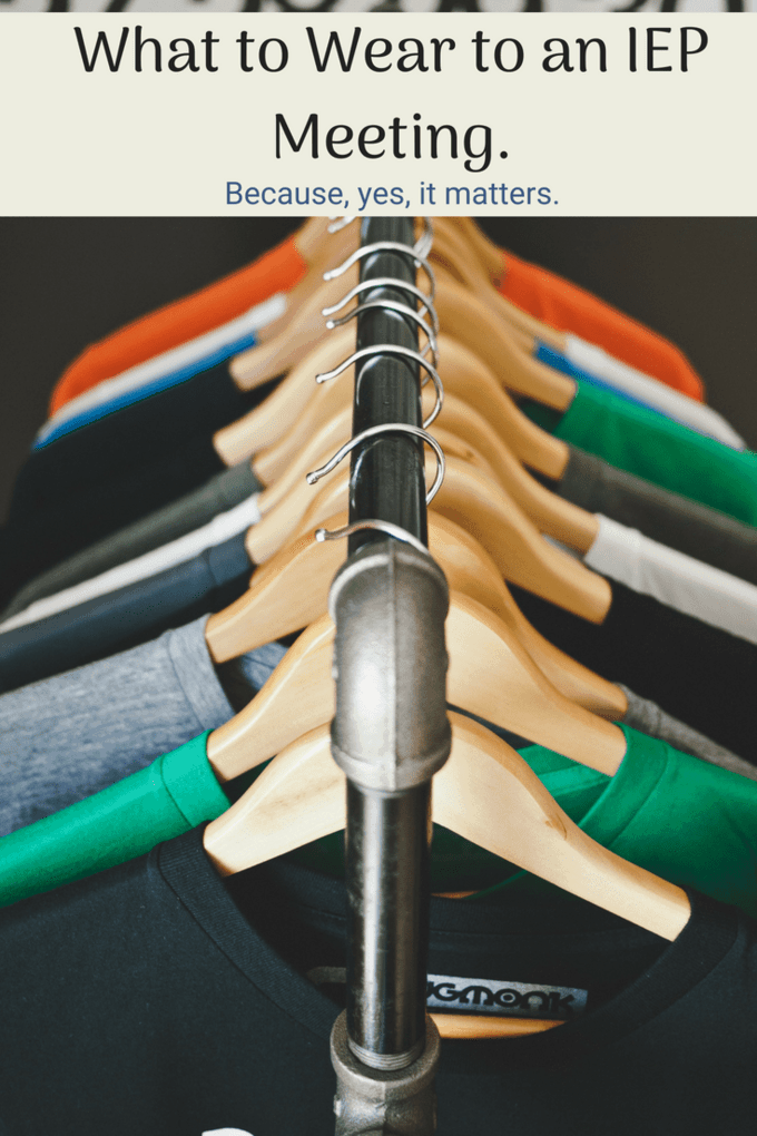 IEP meetings: It shouldn't matter what you wear, but it does. Read these tips on what to wear and what not to wear to an IEP meeting.