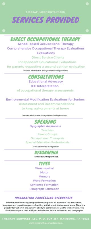 dysgraphia services