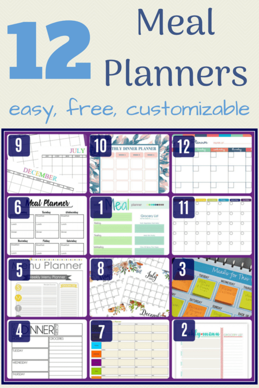 easy customizable meal plan