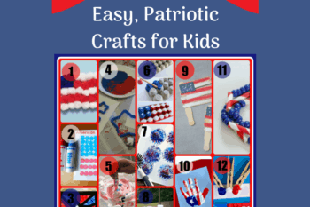 collage assortment of easy patriotic crafts on decorative background