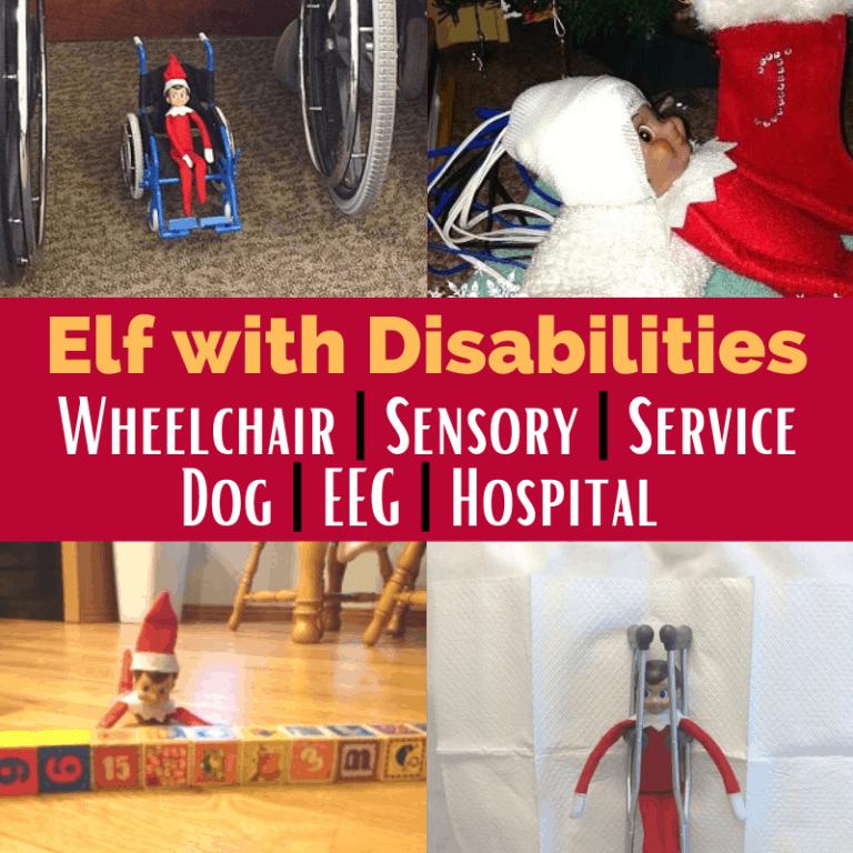 25 Elf on the Shelf Ideas | Disability | Wheelchair | Sensory | Service Dog