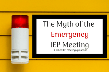 emergency IEP meeting red emergency light on yellow wall