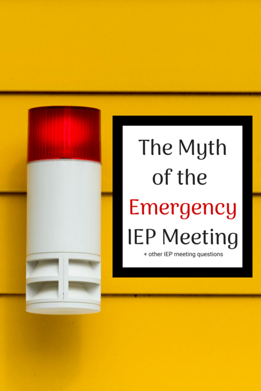 emergency IEP meeting