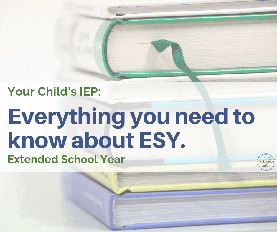 esy extended school year what you need to know stack of books