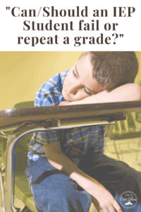 male student with iep upset about being retained