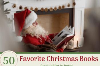 favorite christmas books santa sitting reading a storybook
