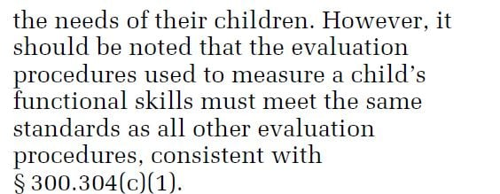 snippet from IDEA IEP laws